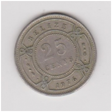 BELIZAS 25 CENTS 1976 KM # 36 VF