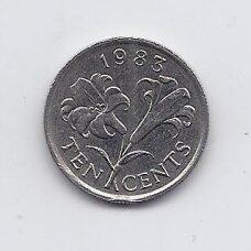 BERMUDA 10 CENTS 1983 KM # 17 VF