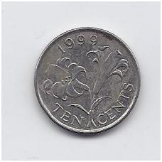 BERMUDA 10 CENTS 1999 KM # 109 VF