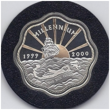 BERMUDA 2 DOLLARS 1999 - 2000 KM # 116a PROOF