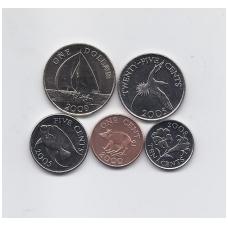 BERMUDA 2000 - 2009 m. 5 monetų komplektas