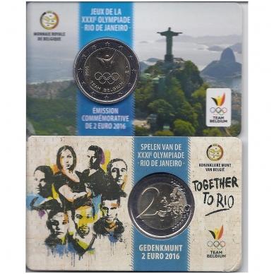 BELGIJA 2 EURAI 2016 RIO OLIMPIADA (KORTELĖJE)