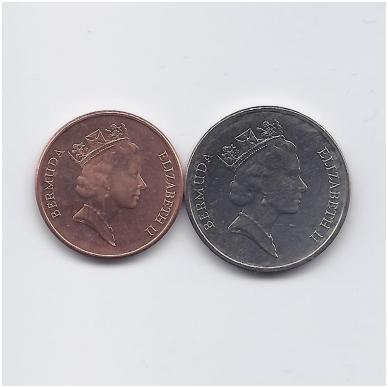 BERMUDA 1 IR 5 CENTS 1997 KM # 44b - 45 UNC 2
