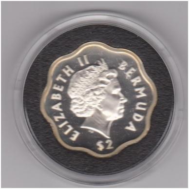 BERMUDA 2 DOLLARS 1999 - 2000 KM # 116a PROOF 4