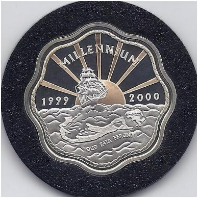 BERMUDA 2 DOLLARS 1999 - 2000 KM # 116a PROOF