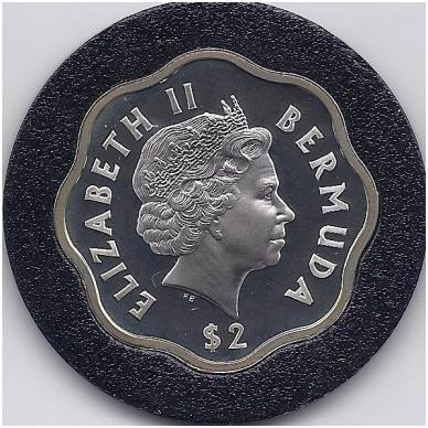 BERMUDA 2 DOLLARS 1999 - 2000 KM # 116a PROOF 2