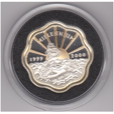 BERMUDA 2 DOLLARS 1999 - 2000 KM # 116a PROOF 3