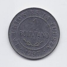 BOLIVIJA 1 BOLIVIANO 1997 KM # 205 VF