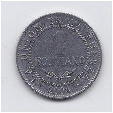 BOLIVIJA 1 BOLIVIANO 2004 KM # 205 VF