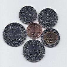 BOLIVIJA 2004 - 2008 m. 6 monetų komplektas