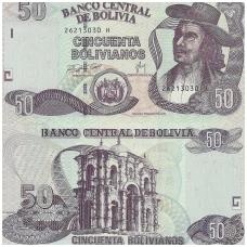 BOLIVIJA 50 BOLIVIANOS 1986 P # 235 UNC