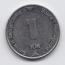 BOSNIJA IR HERCEGOVINA 1 MARKA 2007 KM # 118 VF