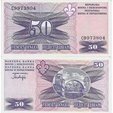 BOSNIJA IR HERCEGOVINA 50 DINARA 1995 P # 47 AU