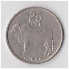 BOTSWANA 25 THEBE 1977 KM # 6 VF