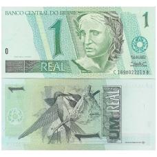 BRAZILIJA 1 REAL 1997 P # 243Af AU