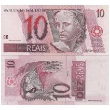 BRAZILIJA 10 REALS 1997 P # 245Ag UNC