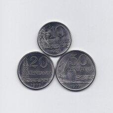 BRAZILIJA 1977 m. 3 monetų komplektas