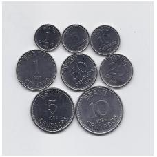 BRAZILIJA 1986 - 1988 m. 8 monetų komplektas