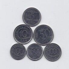 BRAZILIJA 1992 - 1993 m. 6 monetų komplektas