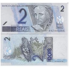 BRAZILIJA 2 REAIS 2001 P # 249b UNC