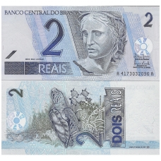 BRAZILIJA 2 REAIS 2001 P # 249e UNC