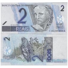 BRAZILIJA 2 REAIS 2001 P # 249f UNC