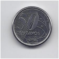 BRAZILIJA 50 CENTAVOS 2005 KM # 651a VF/XF