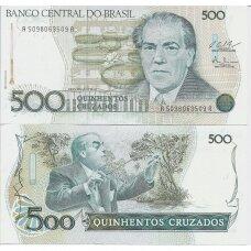 BRAZILIJA 500 CRUZADOS 1987 ND P # 212c UNC