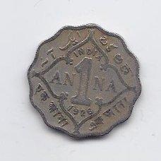 BRITŲ INDIJA 1 ANNA 1926 KM # 513 F