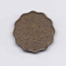 BRITŲ INDIJA 1 ANNA 1945 KM # 537a VF
