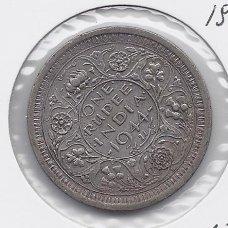 BRITŲ INDIJA 1 RUPEE 1944 KM # 557 VF