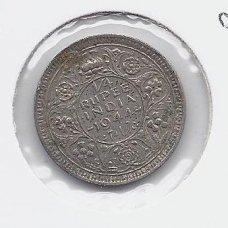 BRITŲ INDIJA 1/4 RUPEE 1944 KM # 547 VF