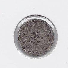BRITŲ INDIJA 2 ANNAS 1890 KM # 488 VF
