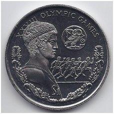BRITŲ MERGELIŲ SALOS 1 DOLLAR 2004 KM # 303 UNC ATĖNŲ OLIMPIADA