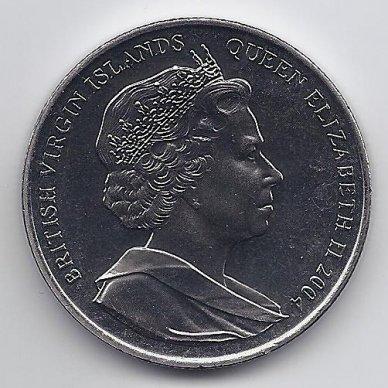 BRITŲ MERGELIŲ SALOS 1 DOLLAR 2004 KM # 303 UNC ATĖNŲ OLIMPIADA 2