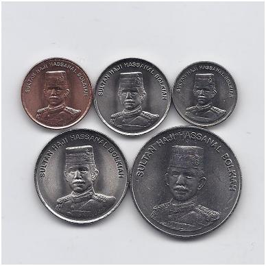 BRUNĖJUS 2005 m. 5 monetų rinkinukas 2