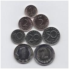 BULGARIJA 1999 - 2015 m. 8 monetų rinkinys