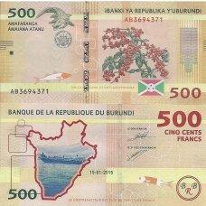 BURUNDIS 500 FRANCS 2015 P # 50 UNC