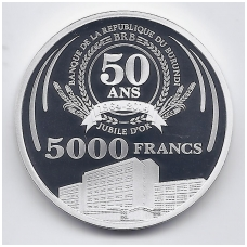 BURUNDIS 5000 FRANCS 2014 KM # NEW PROOF