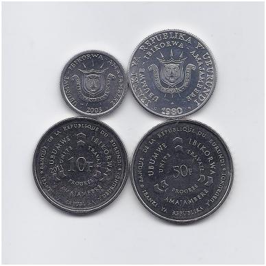 BURUNDIS 4 monetų rinkinukas 2