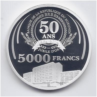 BURUNDIS 5000 FRANCS 2014 KM # NEW PROOF