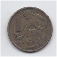 ČEKOSLOVAKIJA 1 KORUNA 1962 KM # 50 VF