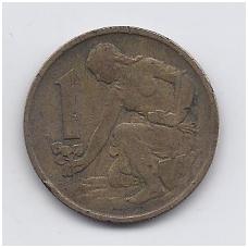 ČEKOSLOVAKIJA 1 KORUNA 1970 KM # 50 VF