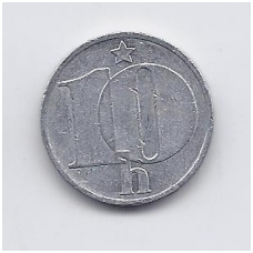ČEKOSLOVAKIJA 10 HALERU 1983 KM # 80 VF