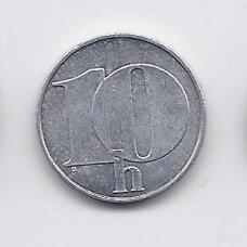 ČEKOSLOVAKIJA 10 HALERU 1992 KM # 146 VF