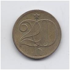 ČEKOSLOVAKIJA 20 HALERU 1972 KM # 74 VF