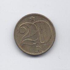 ČEKOSLOVAKIJA 20 HALERU 1973 KM # 74 VF