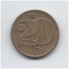 ČEKOSLOVAKIJA 20 HALERU 1977 KM # 74 VF