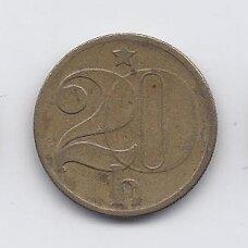 ČEKOSLOVAKIJA 20 HALERU 1981 KM # 74 VF