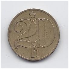 ČEKOSLOVAKIJA 20 HALERU 1983 KM # 74 VF
